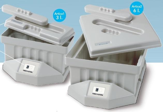 Ванна для дезинфекции с пластиковой корзиной Artica1, Artica2