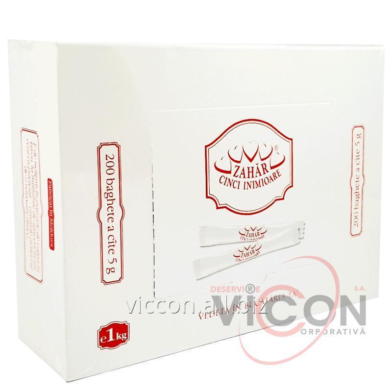 Купить Порционный сахар в стиках 200 штук по 5 гр., 5 INIMIOARE
