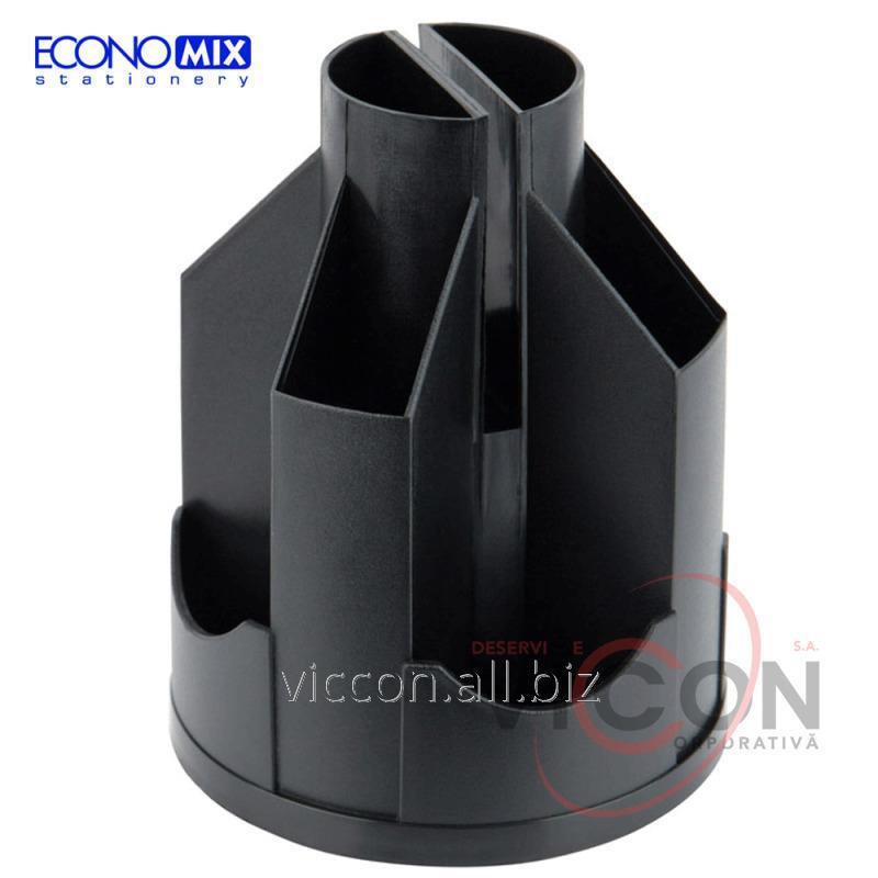 Купить Подставка-органайзер ECONOMIX, черная, E32207