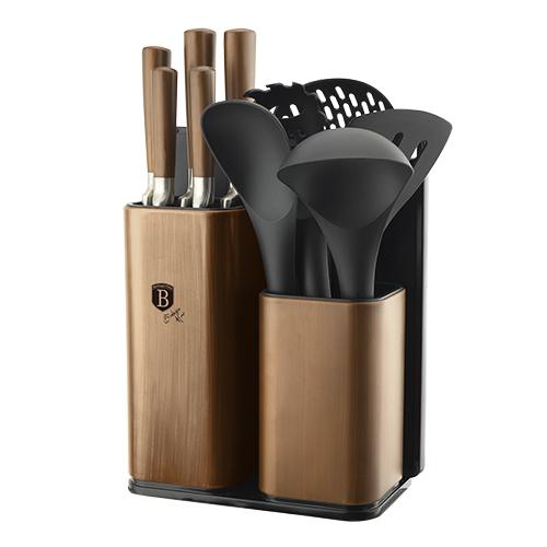 """Купить Кухонный набор + Набор ножей на подставке 12 ед. Black Rose """"1/6"""""""