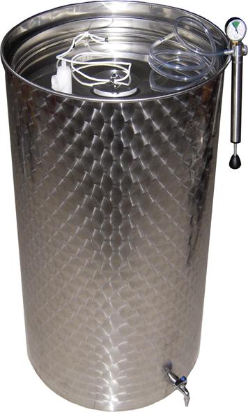 Купить Емкости для вина из пищевой нержавеющей стали с пневматической крышкой, 55-2000 литров, Италия