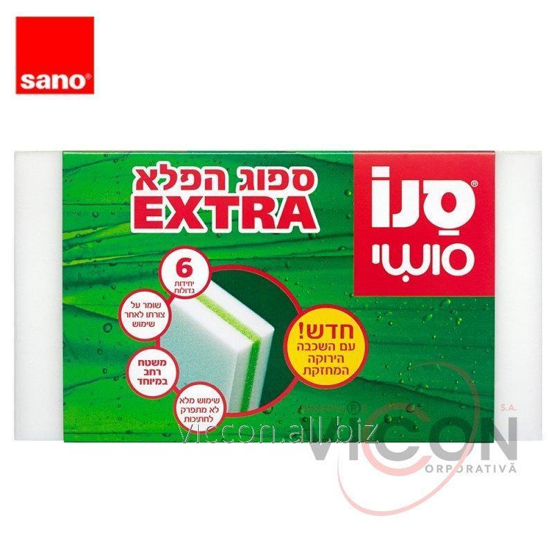 Купить Чудо-губка для уборки (6 шт) SANO MAGIC SPONGE EXTRA