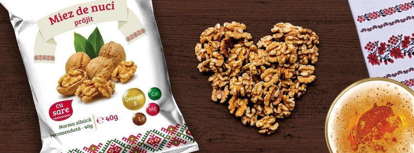 Buy Dried fruits, snacks, dried nuts, walnut kernel, fried, with salt, with honey - Maxnuts