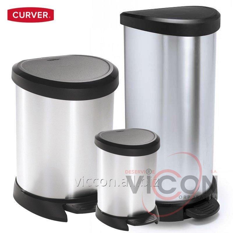 Купить Ведро для мусора DECO BIN CURVER