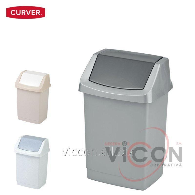 Купить Ведро для мусора CLICK-IT CURVER, 15 Л