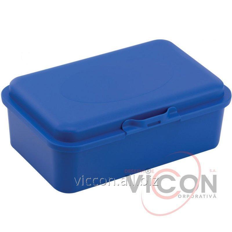 Купить Ланч-бокс (контейнер для еды) ECONOMIX SNACK 750 мл, синий