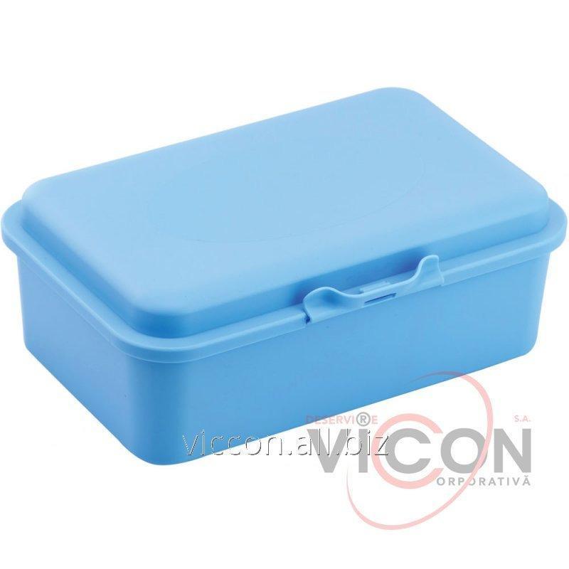 Купить Ланч-бокс (контейнер для еды) ECONOMIX SNACK 750 мл, пастельно голубой