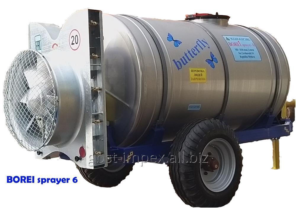 Купить Опрыскиватель вентиляторный прицепной, для защиты виноградников borei sprayer-6 (butterfly)