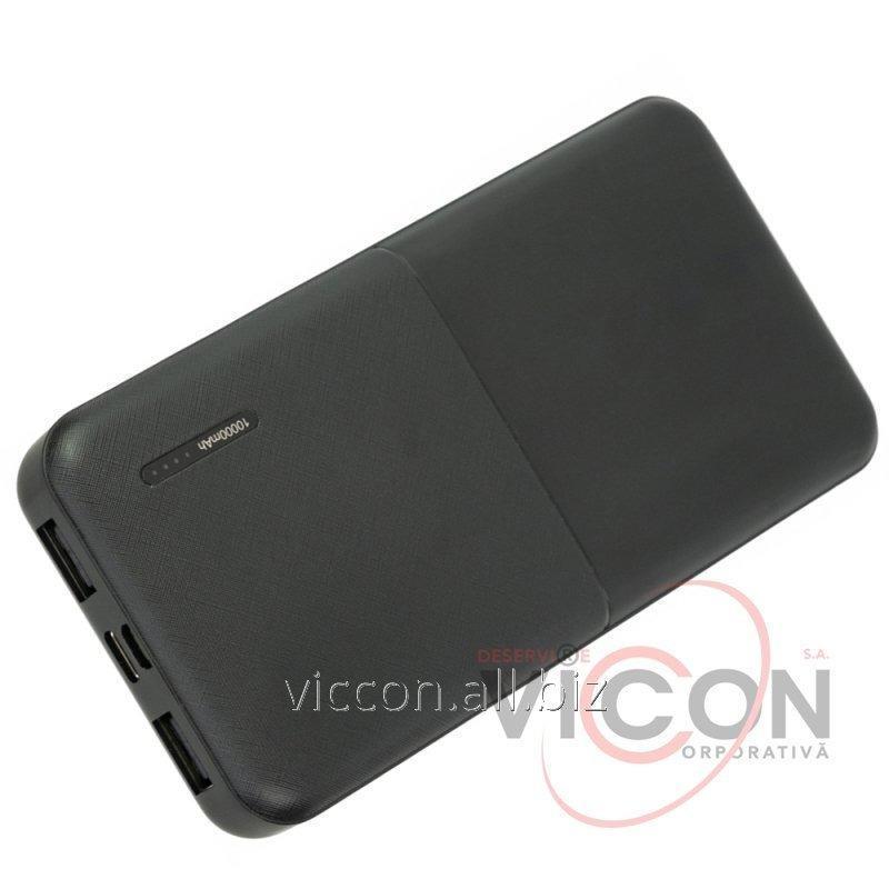 Купить Мобильная батарея (Power Bank) 10 000 mAh, 2*USB output, 5V 2.1A, черная, Optima 4106