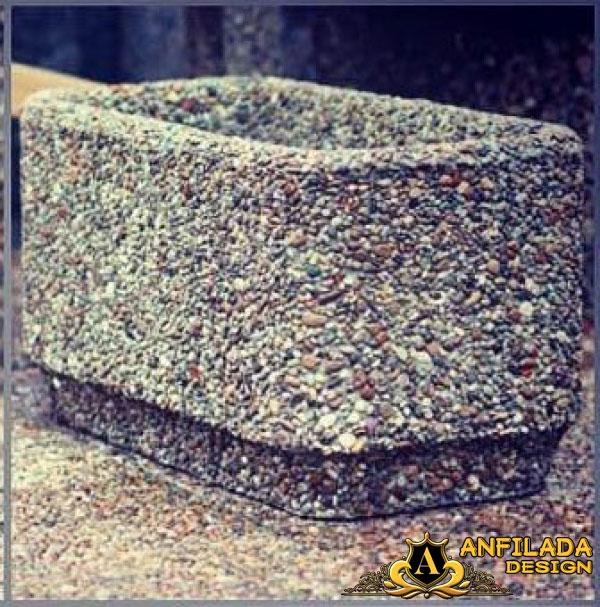 Купить Вазоны для цветов с поверхностью из натурального камня 2