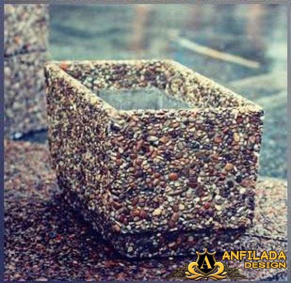 Купить Вазоны для цветов с поверхностью из натурального камня 3