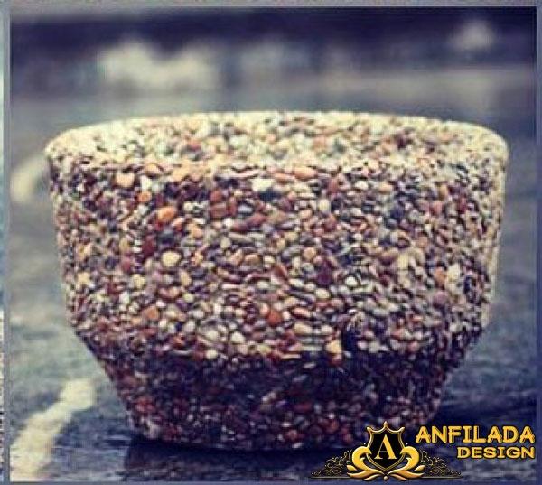 Купить Вазоны для цветов с поверхностью из натурального камня 4
