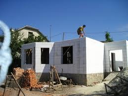 """Costruzione della casa""""Thermo"""" in Chisinau Moldova."""