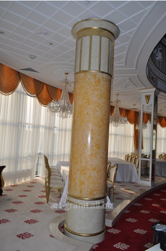 Buy Facing of columns artificial stone