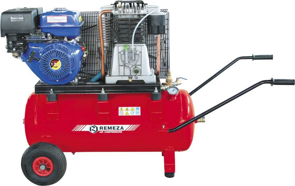 Купить Поршневые компрессоры с ременной передачей и бензиновым двигателем фирмы REMEZA (Белоруссия)