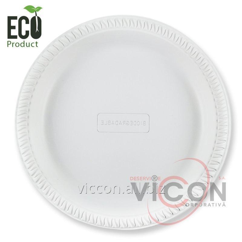 Купить Тарелки биоразлагаемые, плоские, 220 мм, 50 штук