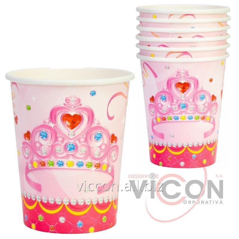 Купить Набор из 6 стаканов бумажных Happy Princess, 270 мл