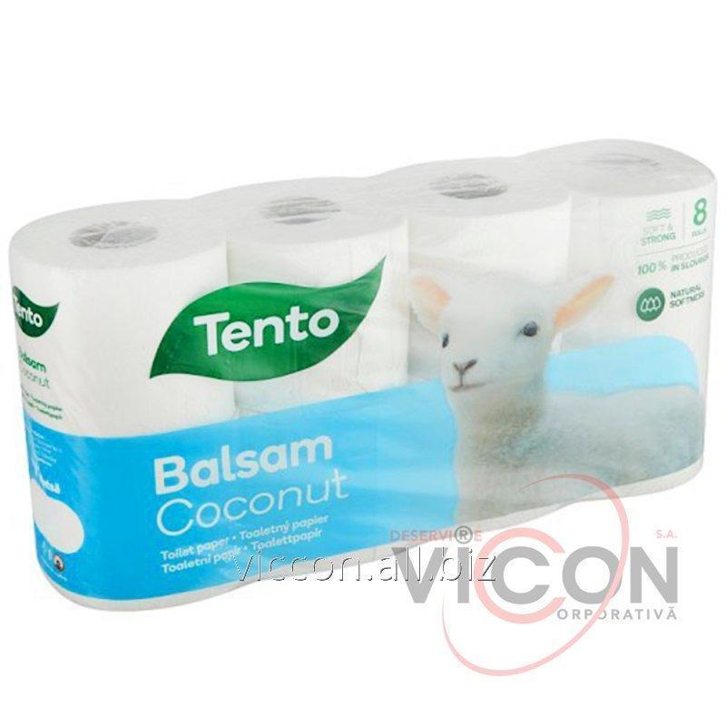 Купить Парфюмированная туалетная бумага BALSAM COCONUT 3-слойная, 8 рулонов.