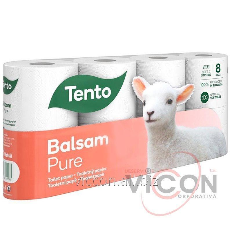 Купить Парфюмированная туалетная бумага BALSAM PURE, 3-слойная, 8 рулонов.