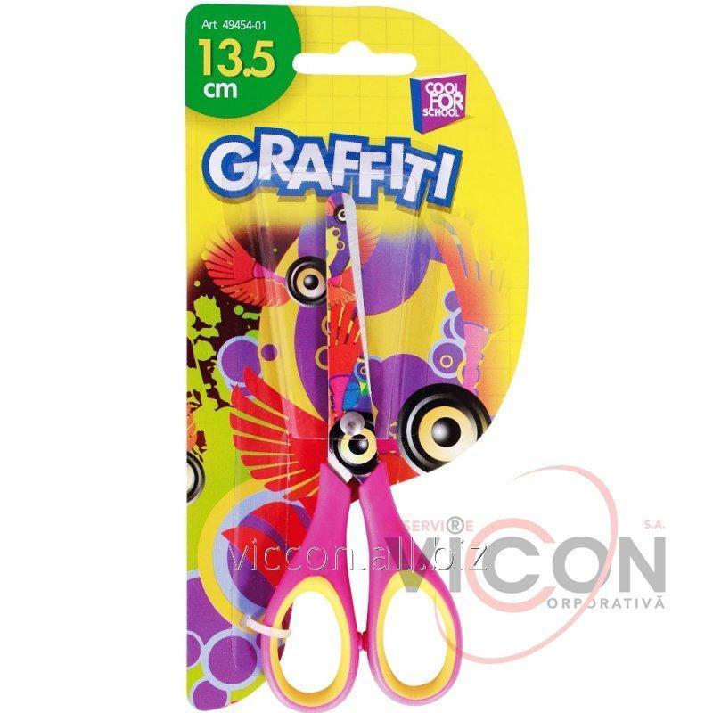 Купить Ножницы детские 13.5 см CoolForSchool (Graffiti) CF49454-01