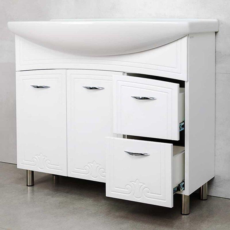 Купить Мебель - ШКАФ DECO ONE WHITE PRO ПОД УМЫВАЛЬНИК ZENON 970