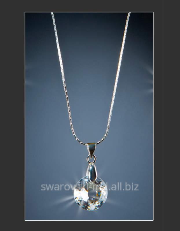 """Купить Подвеска """"Росинка"""", кристаллы SWAROVSKI"""