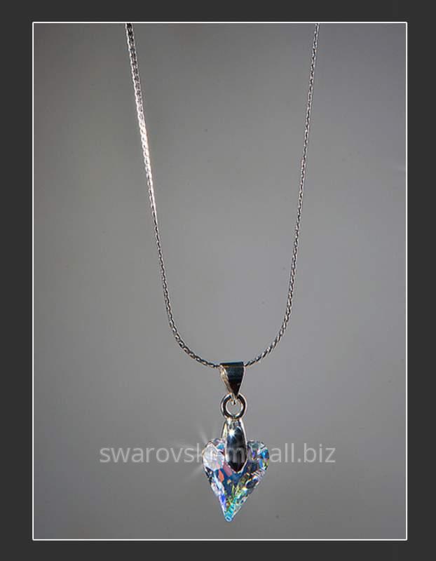 """Купить Подвеска """"Пикантное сердечко"""", кристаллы SWAROVSKI"""