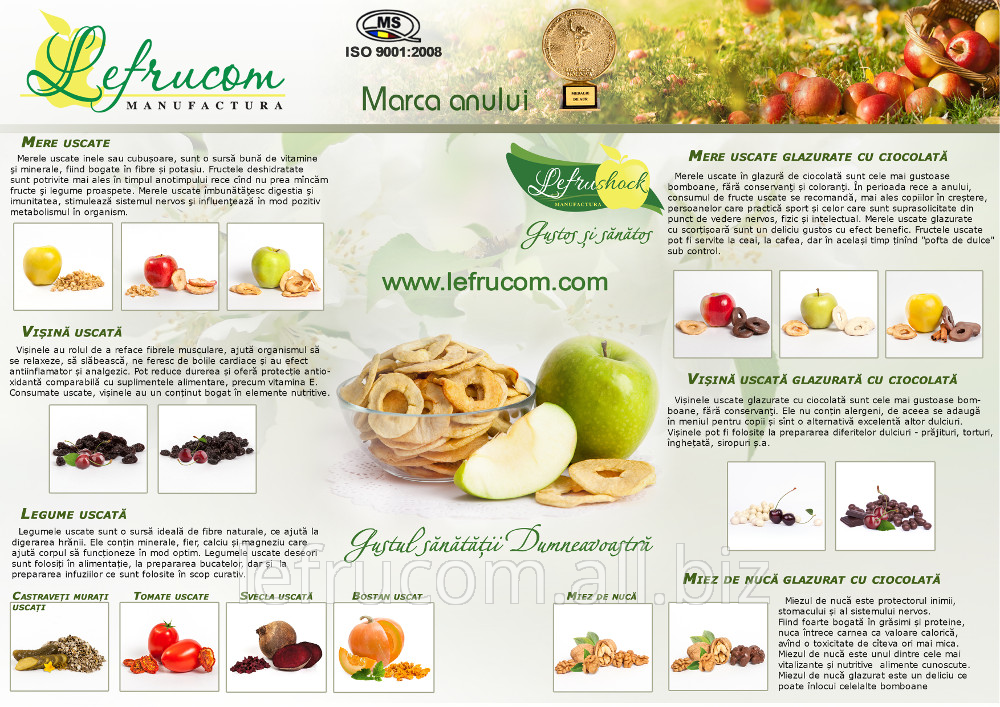 Buy Dried fruits in SC Lefrucom chocolate