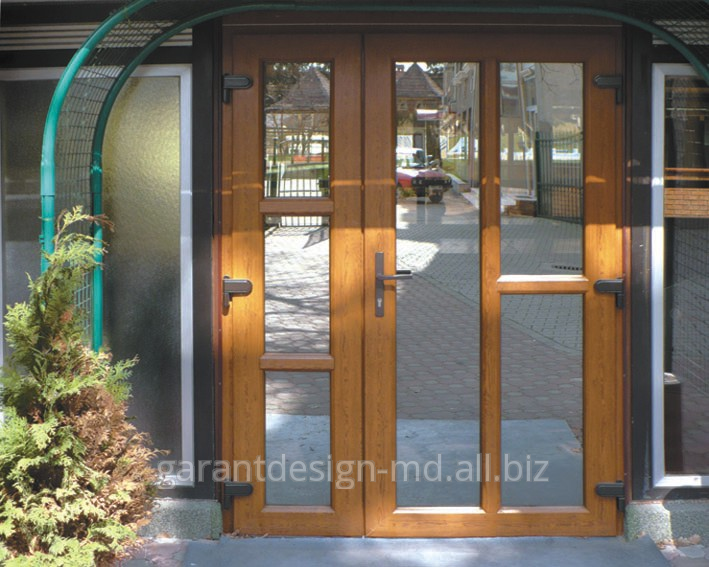 Entrance plastic doors