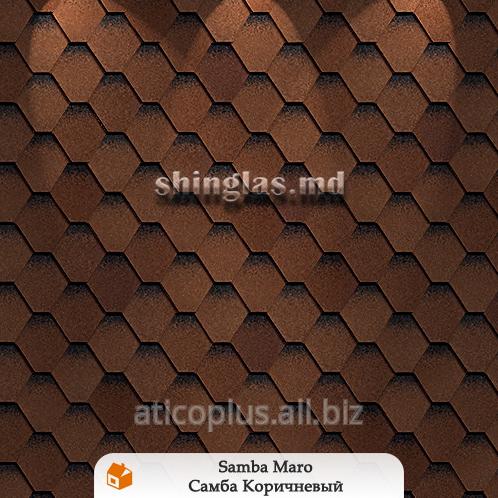 Купить Гибкая черепица в Кишиневе Коллекция Ультра -Модель Самба коричненый