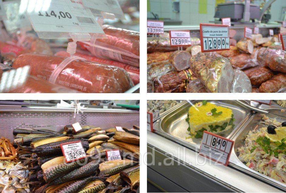 Купить Наборные рамки, прайс-дисплеи кассетные, ценникодержатели для колбасных изделий, ценникодержатели на рыбу, на кулинарию, на сыры, кондитерские изделия, хлеб, овощи, ценники для сыпучих продуктов, полочные ценникодержатели.
