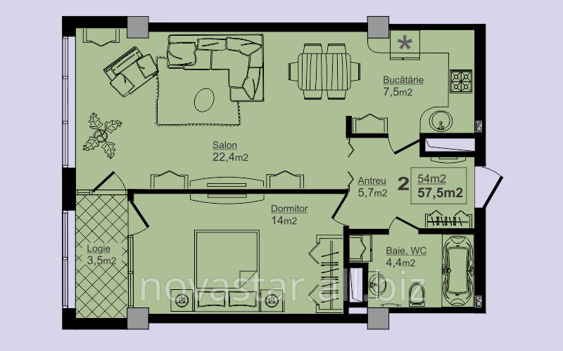 Buy Apartments are 2-roomed