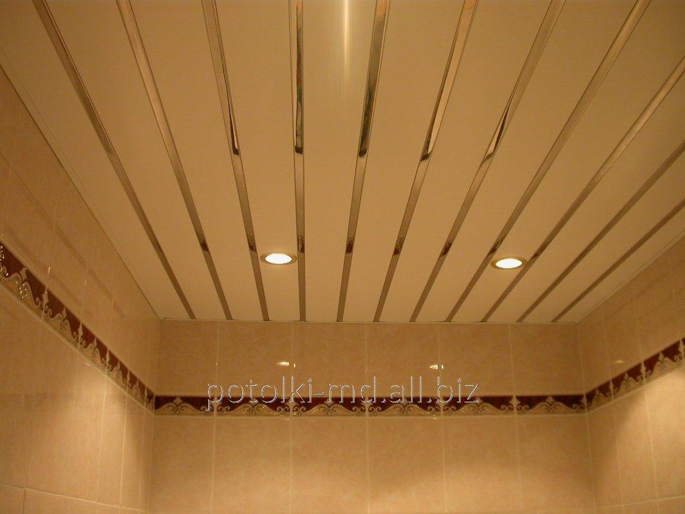 Потолки подвесные реечные дизайнерские