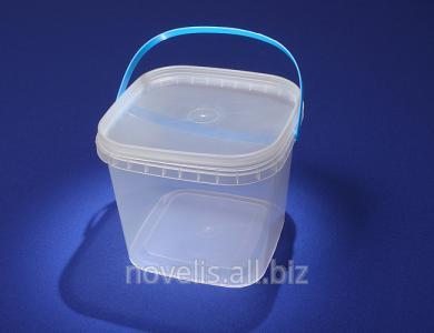 Купить Ведра пластиковые квадратные 1л