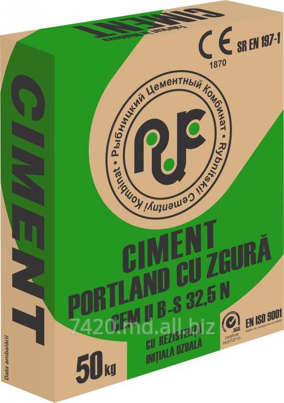 Купить Шлакопортландцемент ШПЦ400/CEM II B-S 32,5N тарированный в бумажные мешки по 50 кг