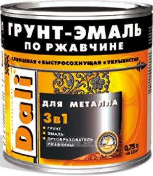 """ГРУНТ-ЭМАЛЬ ПО РЖАВЧИНЕ 3В1 """"DALI"""""""