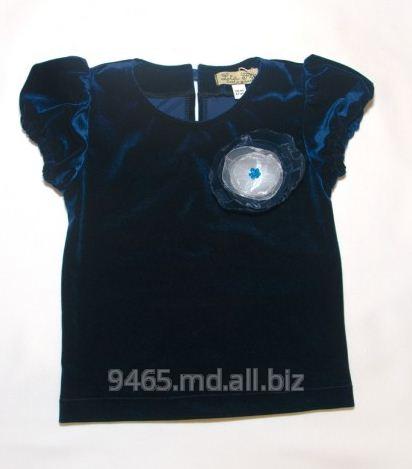 Купить Блузка детская из синего бархата