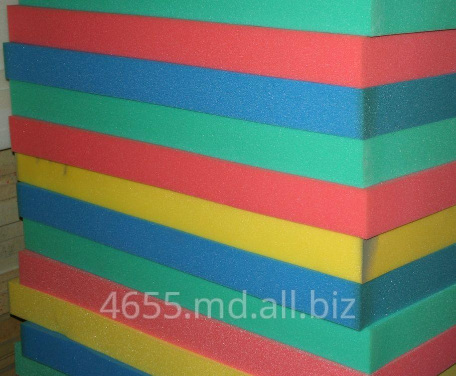 Цветной поролон для производства губок