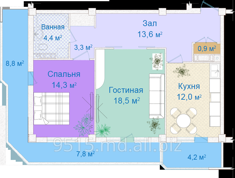 Купить Квартиры 3-х комнатные