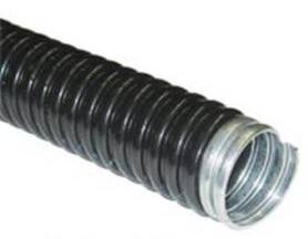 Metal hose isolated black