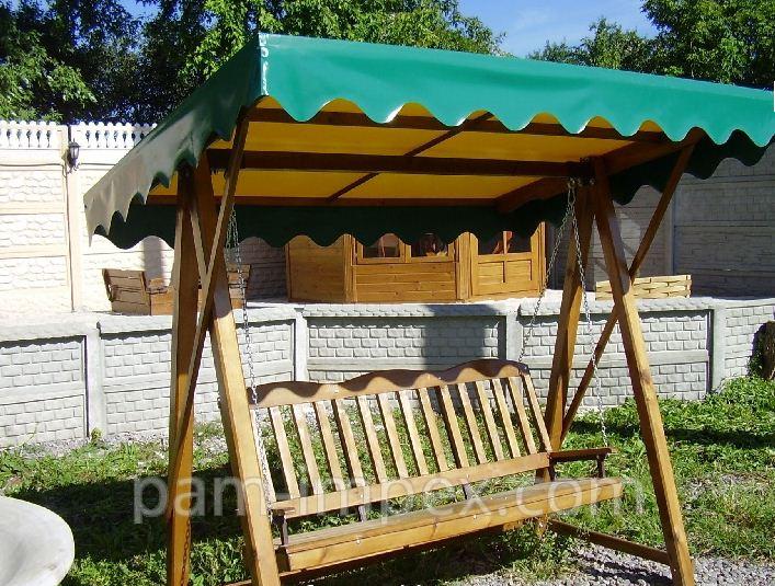 Купить Садовые качели деревянные