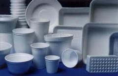 Packaging materials from polystyrene