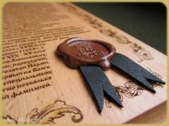 Sealing wax post