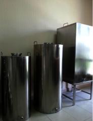 Емкости из нержавеющей стали объемом до 5 тонн