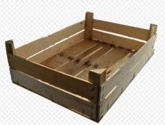 Boxes wooden tare for apples