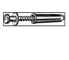 U656 3х25 expansion bolt shield (6 pieces)