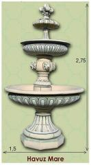 Fountains, decorative products from concrete