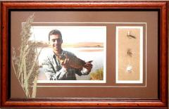 The photo in a wooden frame