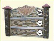 Заборы бетонные и ограды