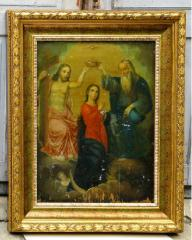 Icon in a wooden frame from the Italian baguette
